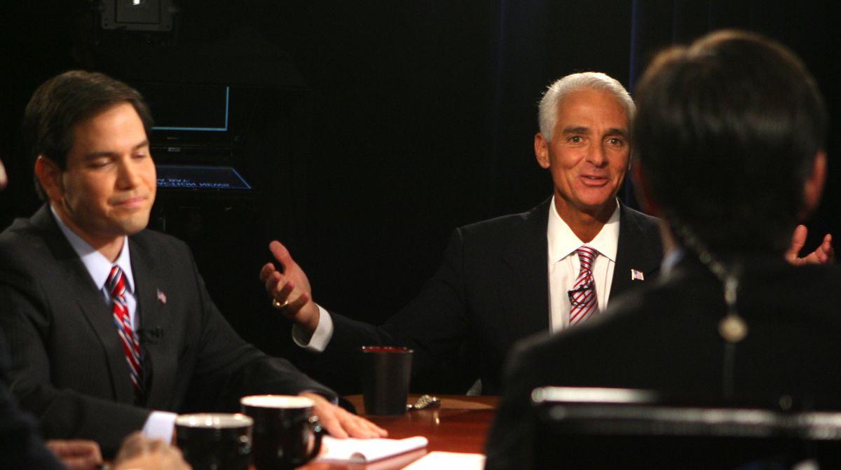 Florida Senate Candidates Meek, Crist And Rubio Debate In Orlando