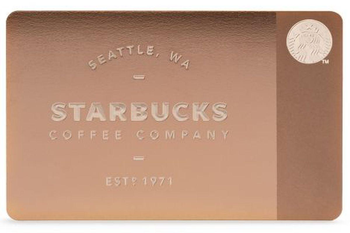 Starbucks 450 Metal Gift Card Goes On Sale At Gilt Tomorrow Racked