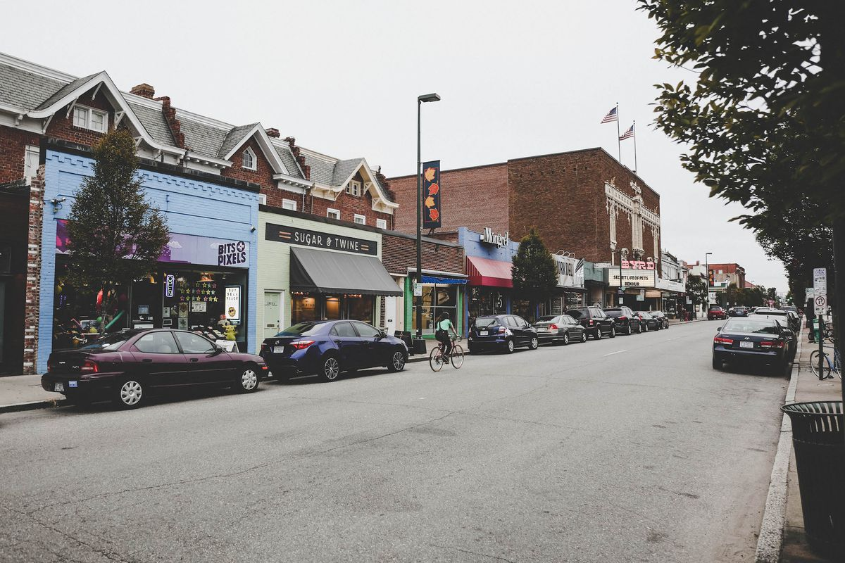 Cary Street in Richmond, Virginina