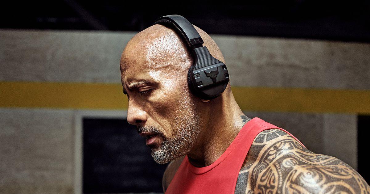wiele stylów urzędnik 100% autentyczny The Rock uruchamia własne słuchawki treningowe odporne na pot