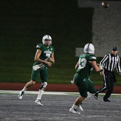 With the game well in hand, Isaac Stiebling got to get a few snaps.<br>