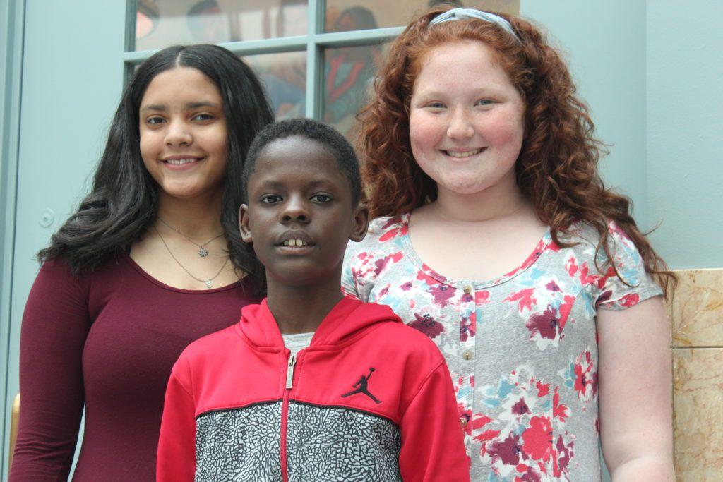 Members of the Ogden Student Voice Committee (from left) Dajae Allen, Jacari Brown and Kiara Caref.