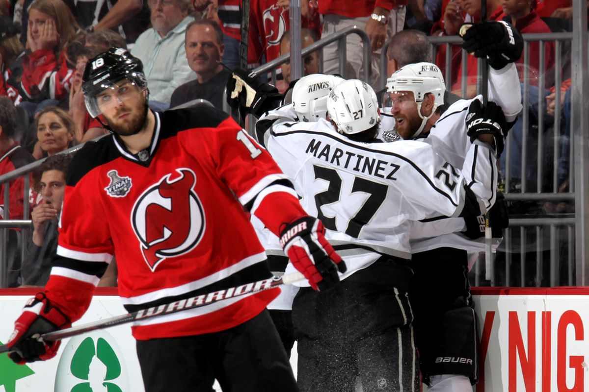The faces say it all - Steve Bernier's and the fans in the background.  (Photo by Bruce Bennett/Getty Images)