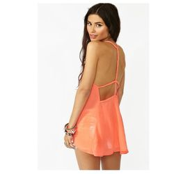 "<a href=""http://www.nastygal.com/clothes-tops/braided-chiffon-tank-coral""> Nasty Gal braided chiffon tank</a>, $38 nastygal.com"