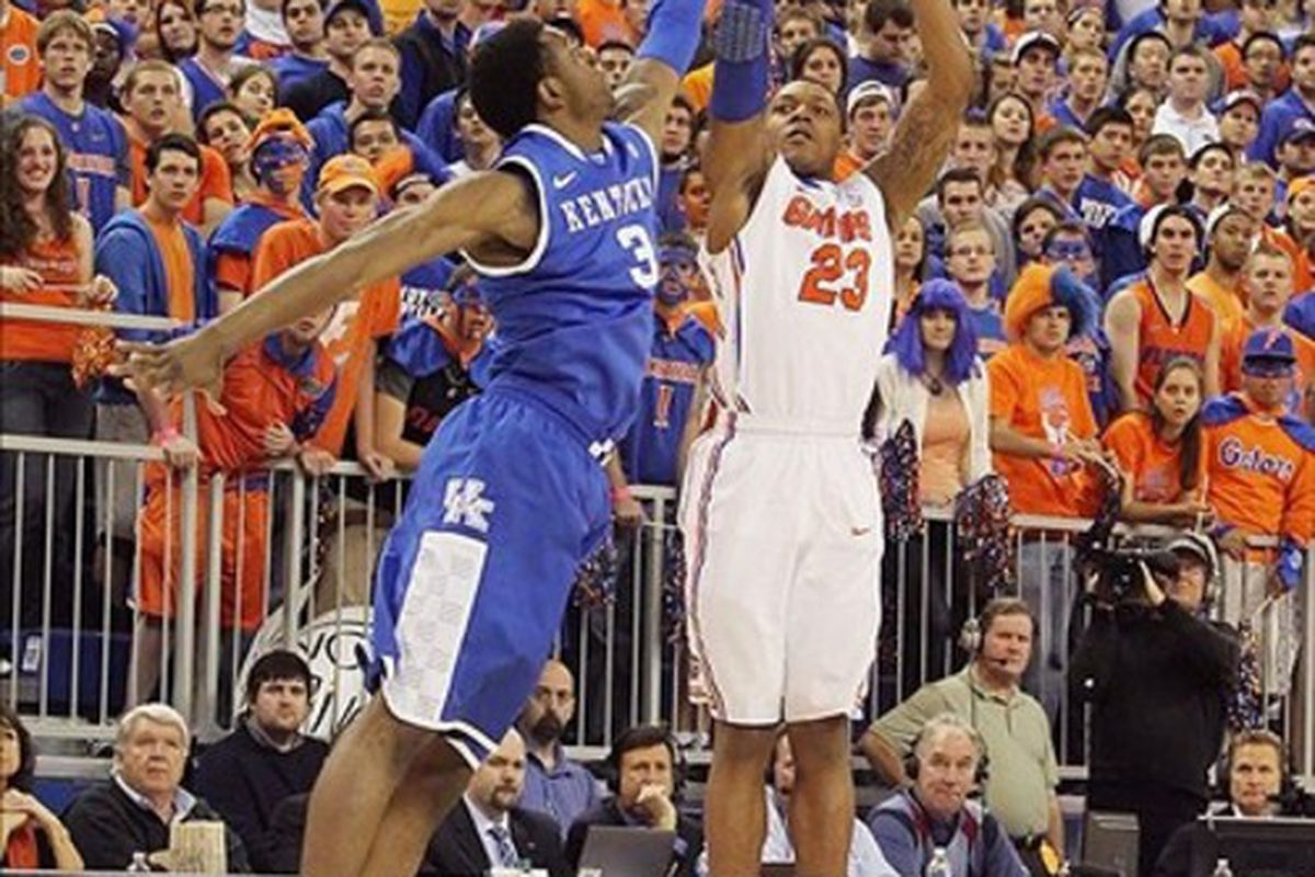 It's Florida-Kentucky III today, where the Gators' outside shooting must come alive for them to have a chance.