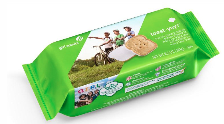 """The """"Toast-Yay!"""" Girl Scout cookie will be available in select areas next year."""