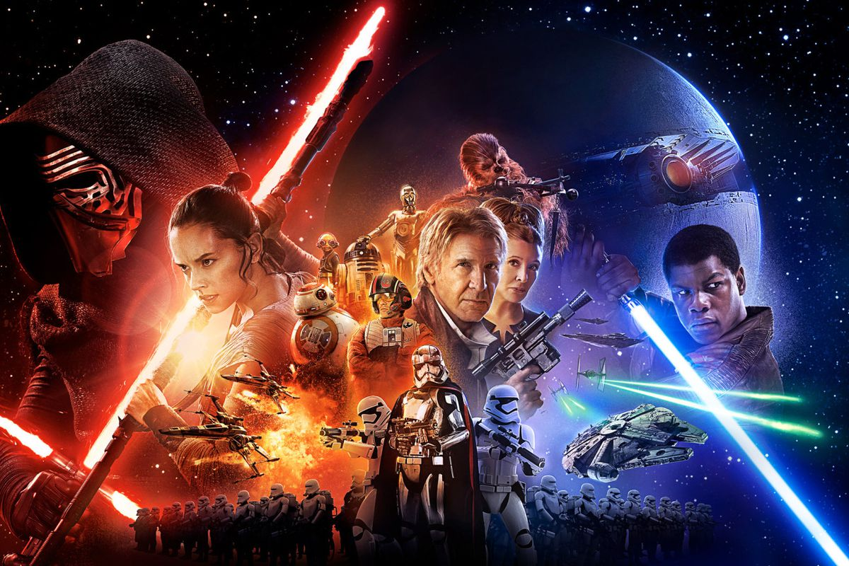 Star Wars: The Force Awakens poster (wide)