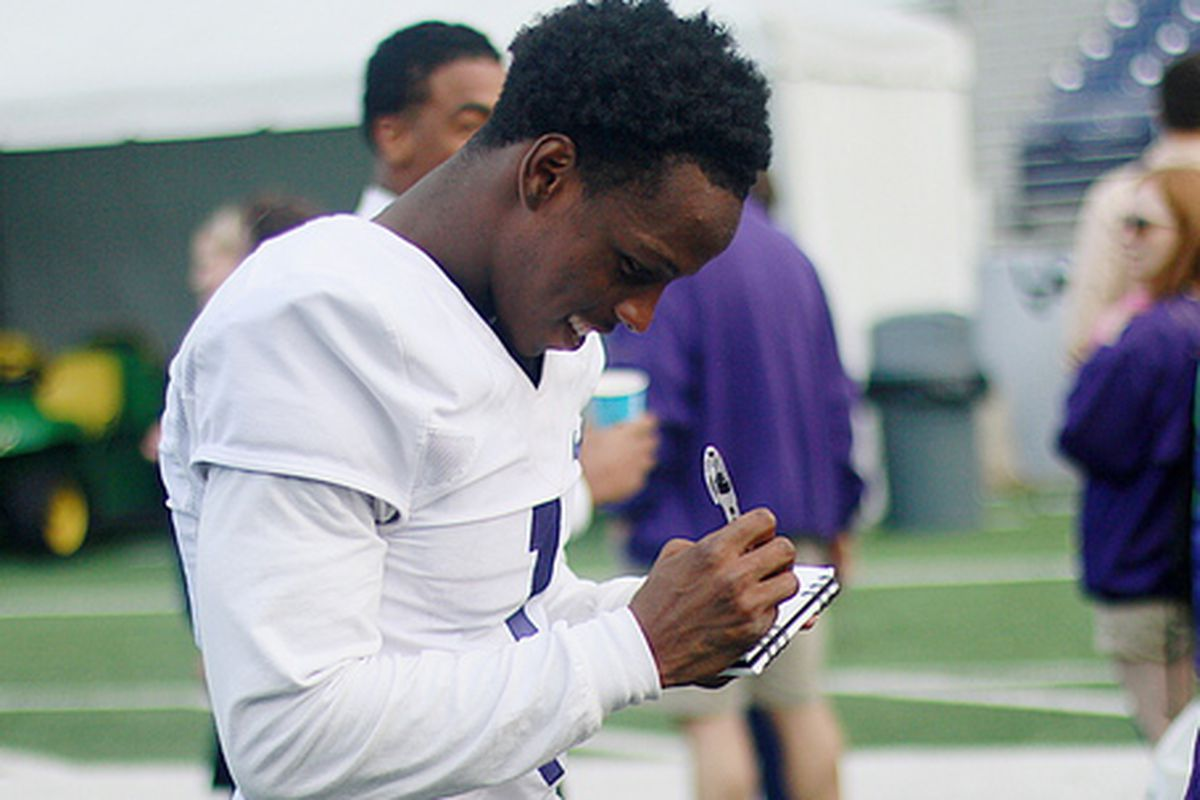 John Ross is studying up to make his 2014 debut on Defense versus UCLA.