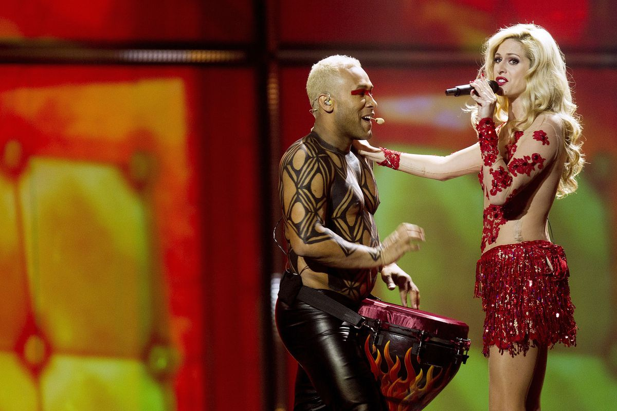 This is Portugal's entry in this year's Eurovision. No, we're not really sure what's going on either.