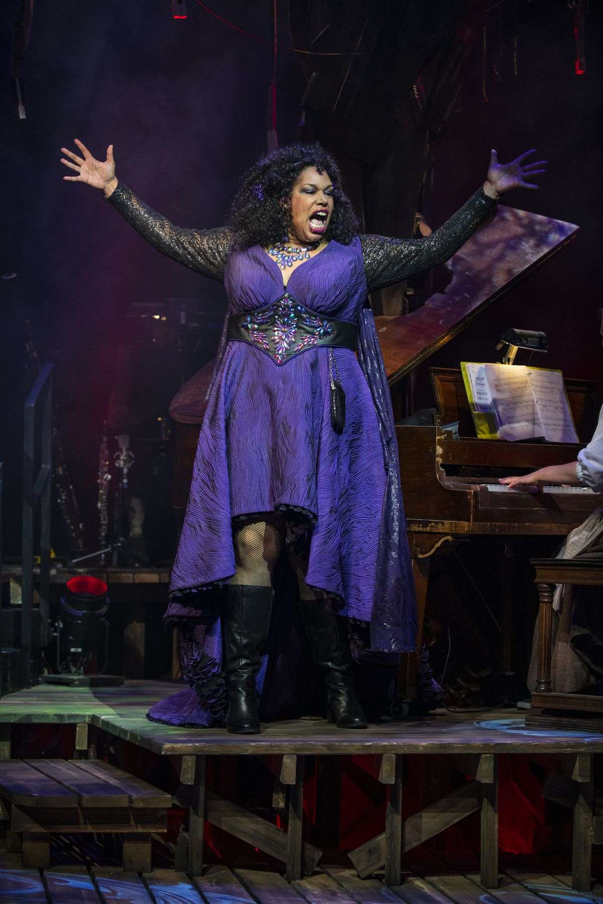 """Bethany Thomas stars as The Witch in the Writers Theatre production of """"Into the Woods,"""" directed by Gary Griffin."""