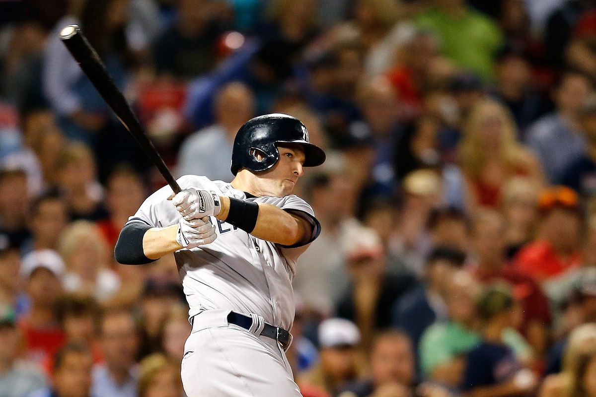 Stephen Drew, hitting one of his 14 doubles in 2014.