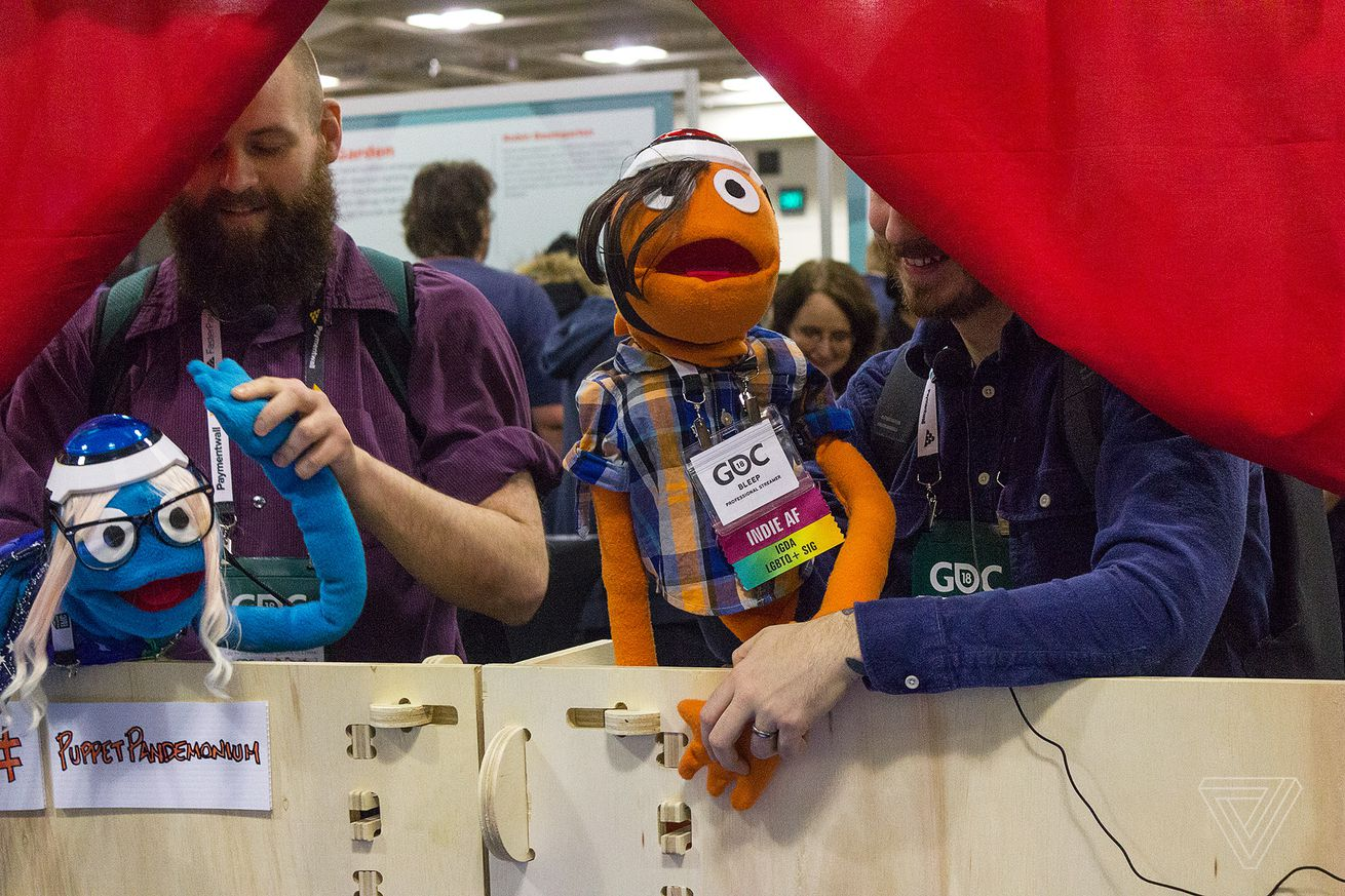 puppet shows zombie heads and a unicorn costume meet the weird controllers of alt ctrl gdc