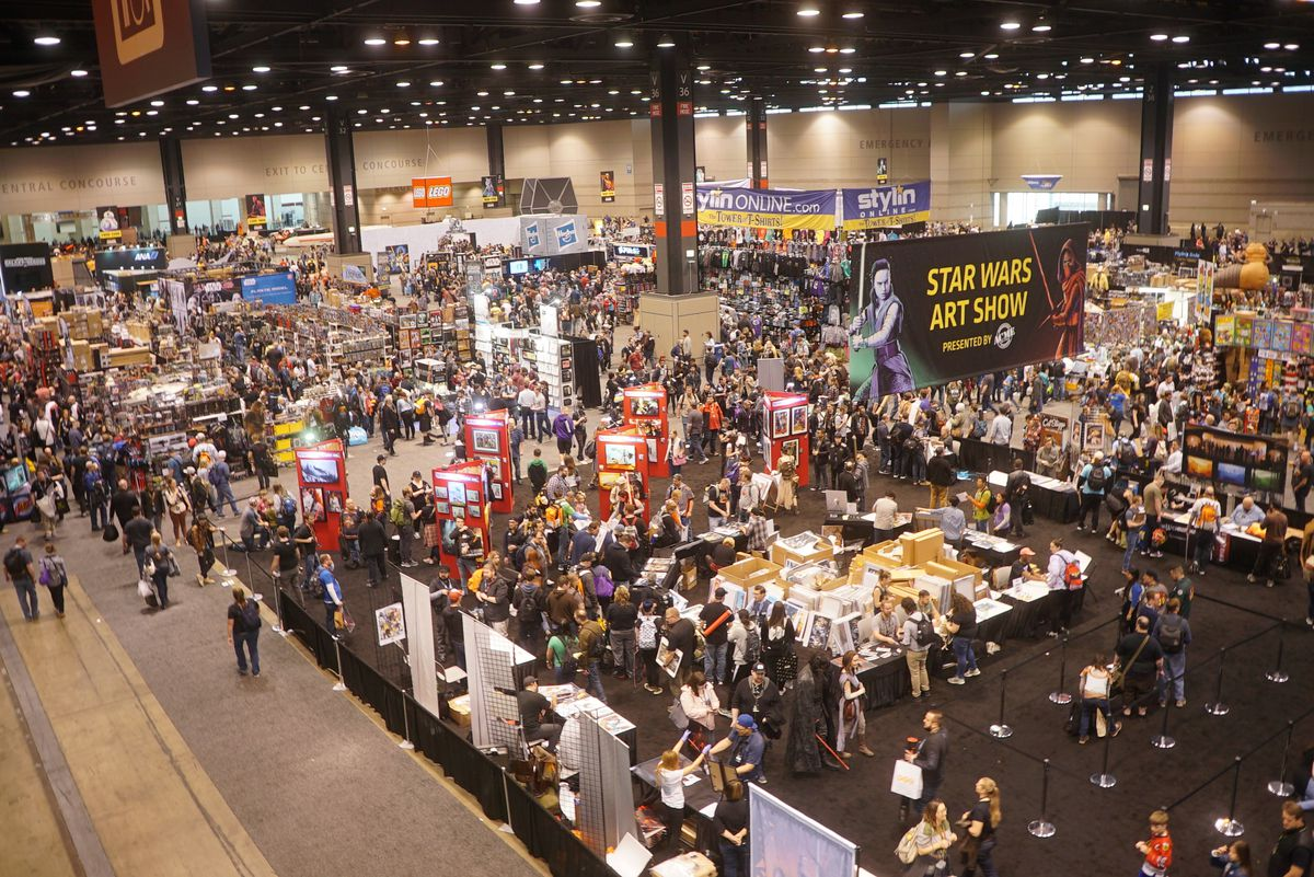 The view from the top floor at McCormick Place West during Star Wars Celebration 2019 on Thursday, April 11, 2019. | Brian Rich/Sun-Times