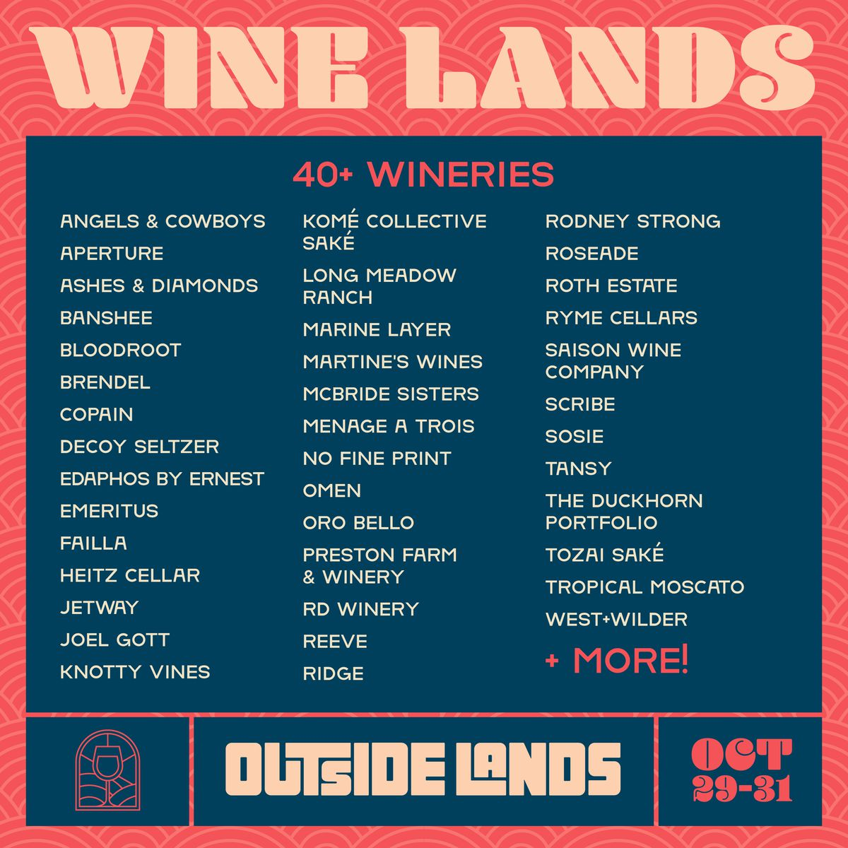 Outside Lands 2021 wine lineup