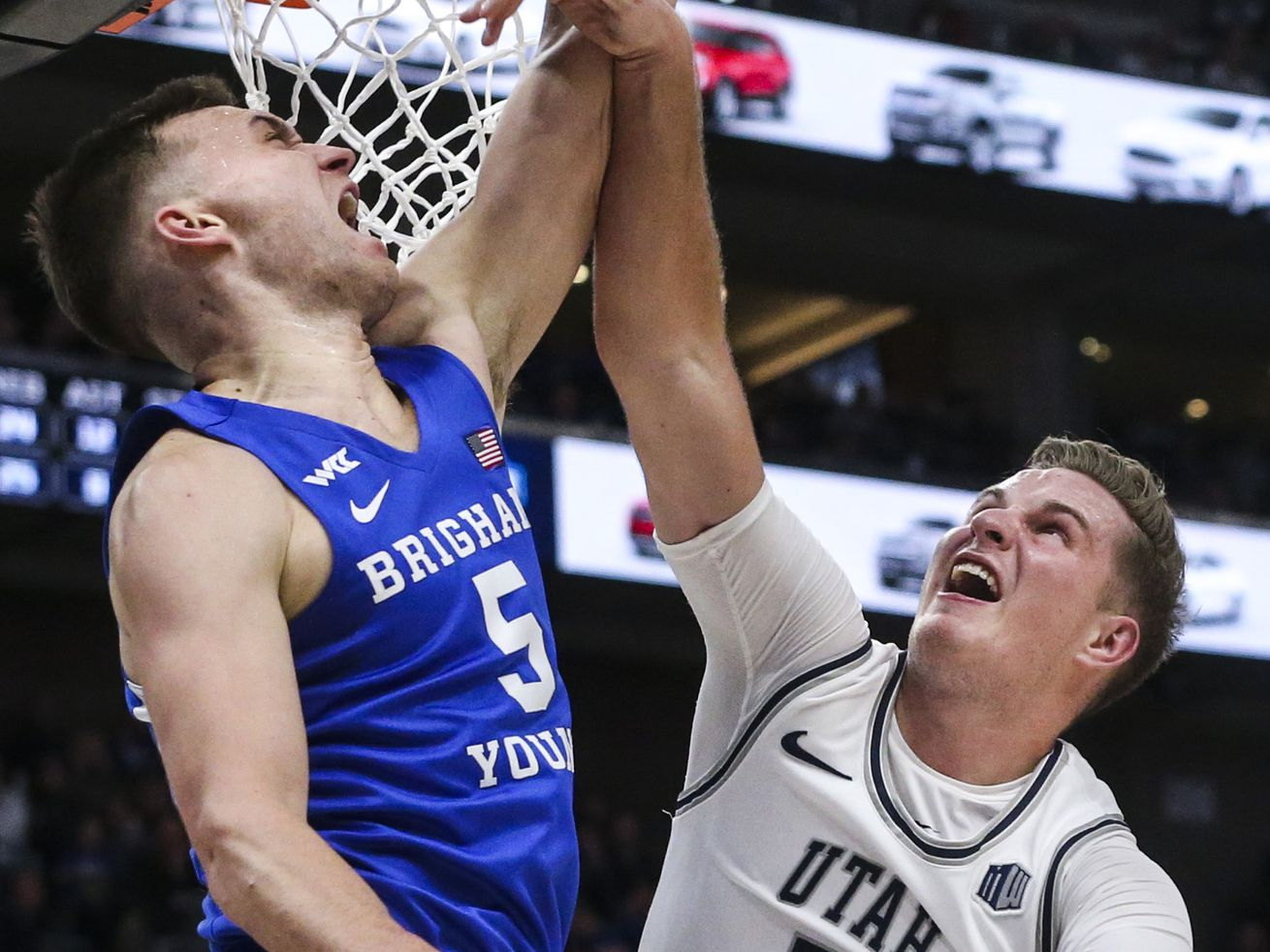 Utah State Aggies stay close to BYU Cougars despite Sam Merrill's off night