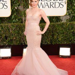 "Amy Adams in ""ballet pink"" Marchesa"