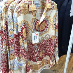 Silk shirt, $82 (was $825)