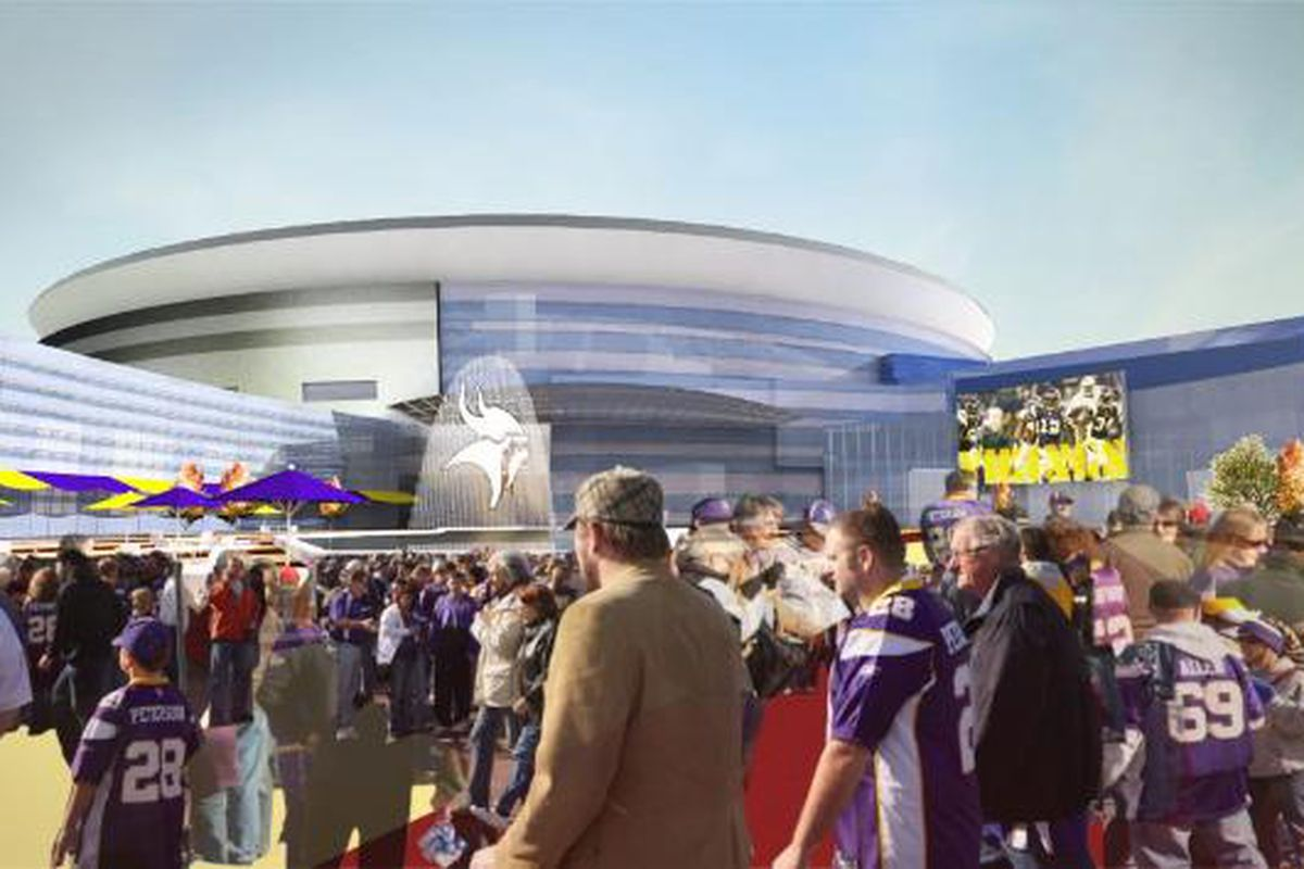 """An artist's rendering of the potential new Vikings stadium in Arden Hills, Minnesota. (Picture courtesy of <a href=""""http://www.mnvikingsfan.com/wp-content/uploads/2011/06/Arden-Hill-Vikings-Stadium.jpg"""">www.mnvikingsfan.com</a>)"""