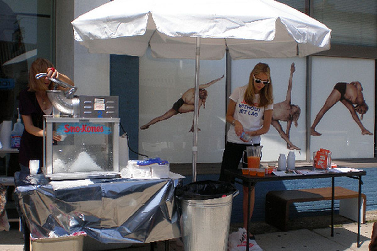 Sno-cones at last year's West 3rd Street summer sale