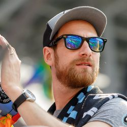 June 2, 2019 - Saint Paul, Minnesota, United States - Former Loon Jerome Thiesson returns as a capo in the Wonderwall at the Minnesota United vs Philadelphia Union match at Allianz Field.