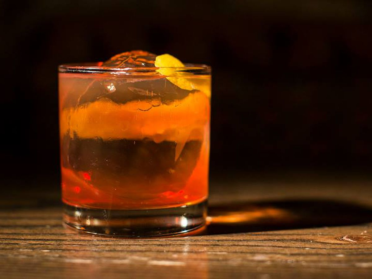 Negroni at the Green Russell cocktail