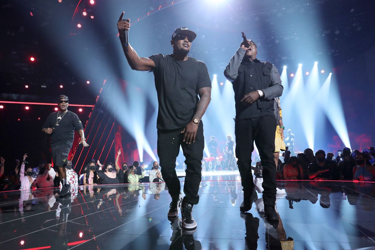 Sheek Louch of The Lox and Jadakiss perform onstage at the BET Awards 2021 at Microsoft Theater on June 27, 2021 in Los Angeles, California.