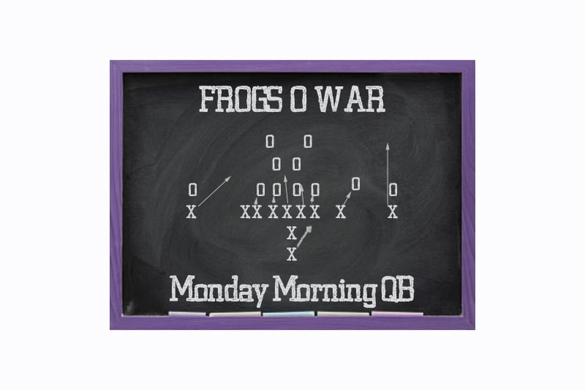 Welcome back to the MMQB, where Frogs O' War writers talk TCU Football and things.