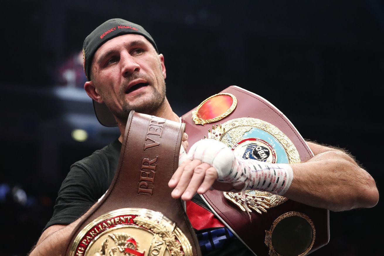Kovalev vs Yarde boxing show in Chelyabinsk, Russia