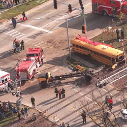 Metra Train No. 624 crashed into a school bus on Oct. 25, 1995 at Algonquin Road and Northwest Highway in Fox River Grove. The crash killed seven teenagers and injured the bus driver and24 passengers.