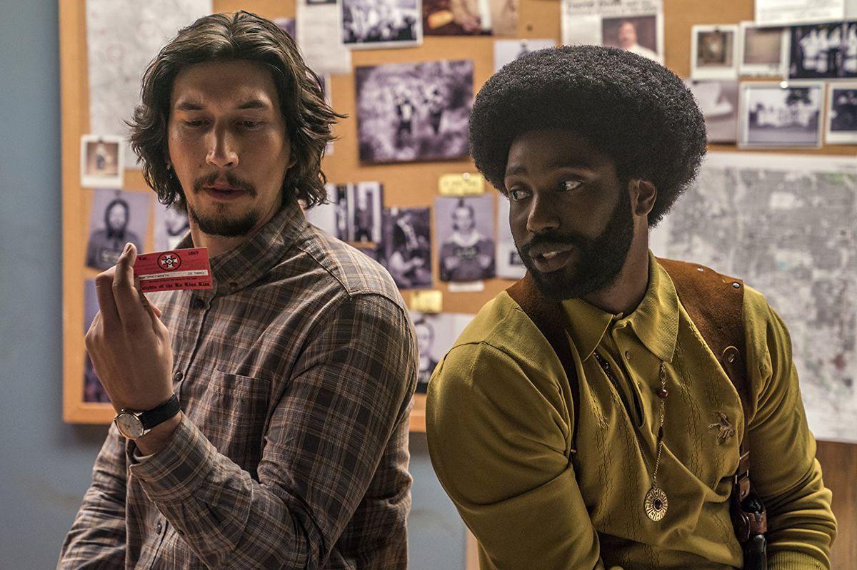 Adam Driver and John David Washington in BlacKkKlansman