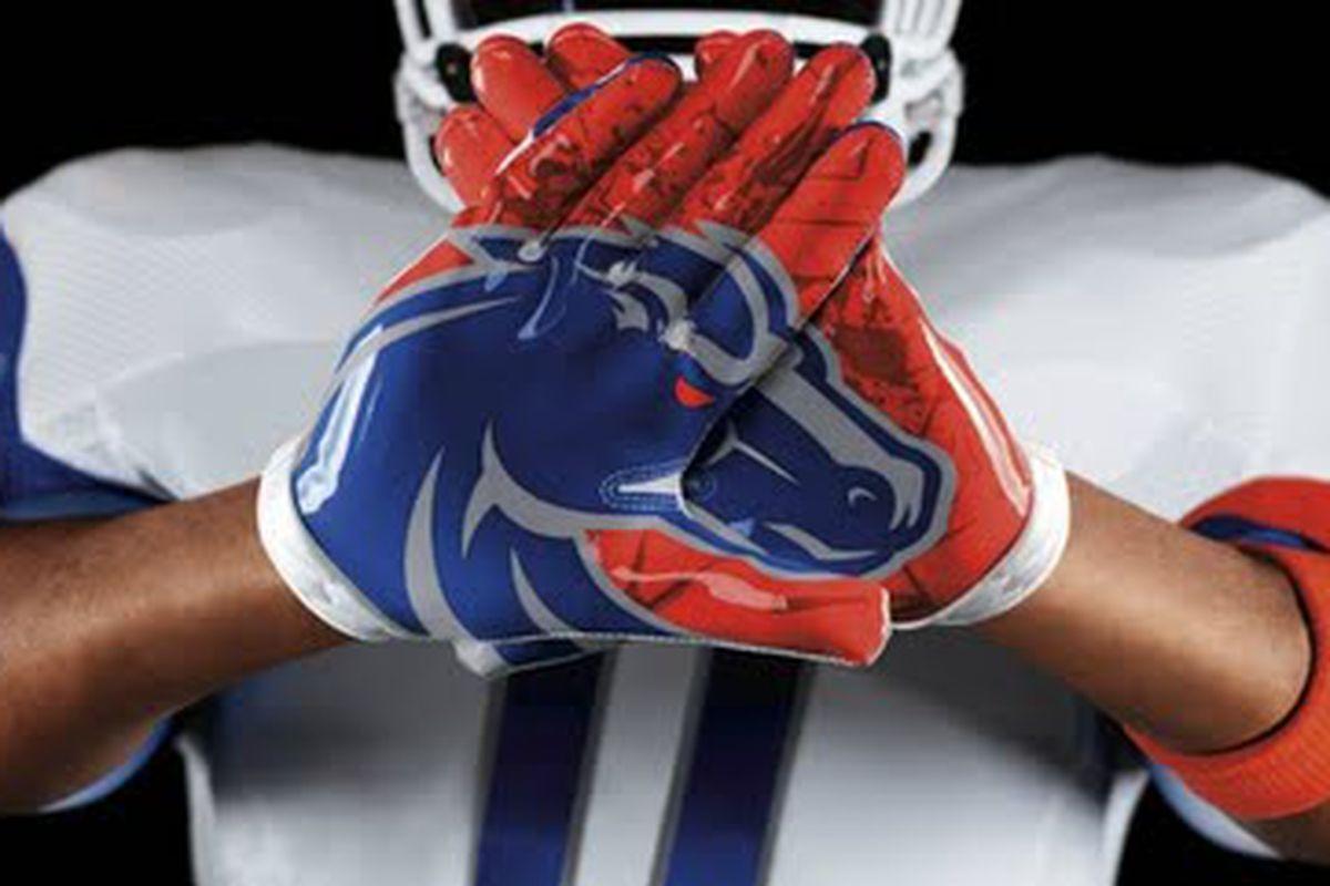 Boise State Pro Combat gloves
