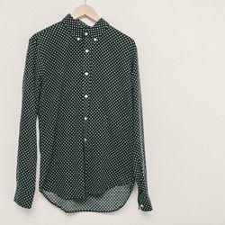Velour by Nostalgi polka dot shirt, $210