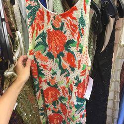 Sample rose pattern dress, $99