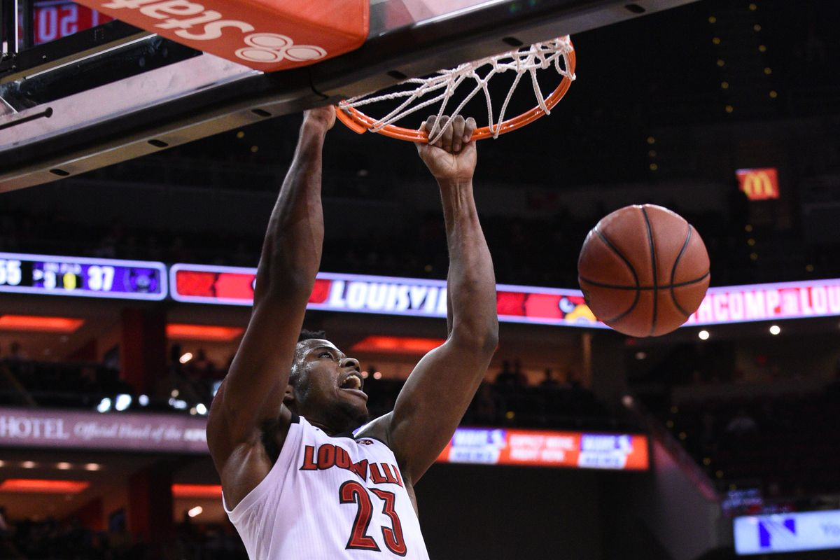 Steven Enoch slams the ball in the blowout win over Central Arkansas.