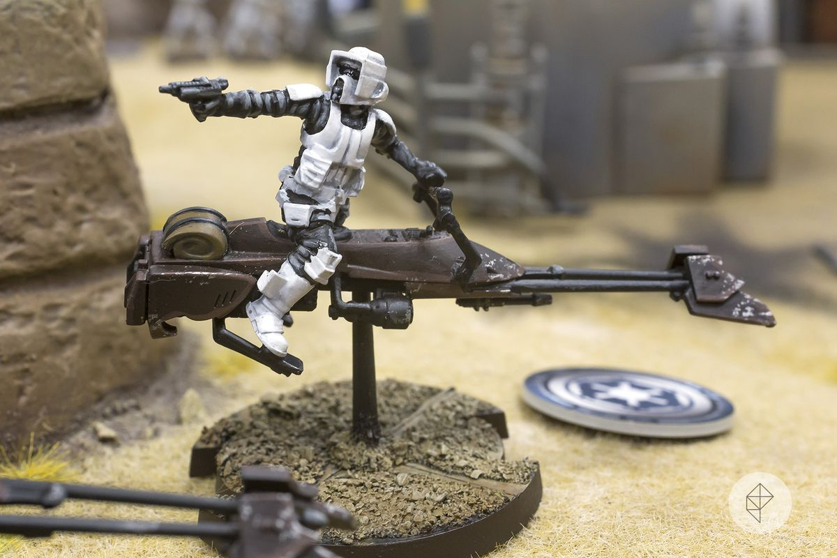 photo of Star Wars: Legion speeder bike miniature