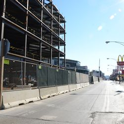 10:28 a.m. Quick look south on Clark Street, at Waveland Avenue, with no traffic -