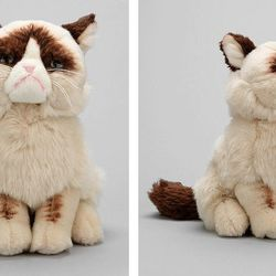 """Grumpy Cat plush toy, <a href=""""http://www.urbanoutfitters.com/urban/catalog/productdetail.jsp?id=30132955"""">$24</a> at Urban Outfitters"""