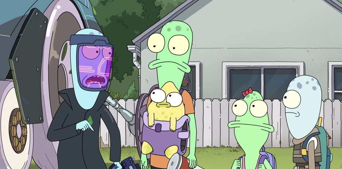an alien family on the animated series Solar Opposites