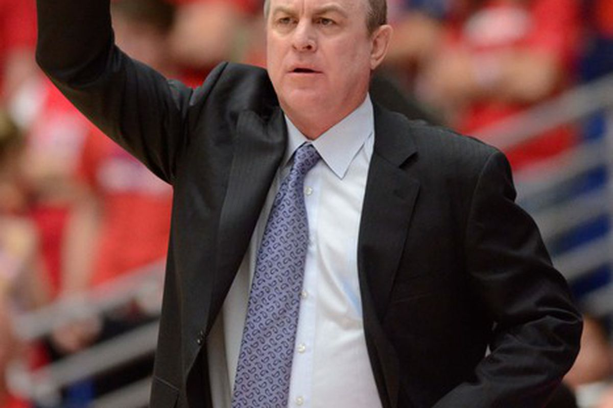 UCLA Bruins basketball head coach Ben Howland has one last chance to get it right.  Mandatory Credit: Chris Morrison-US PRESSWIRE