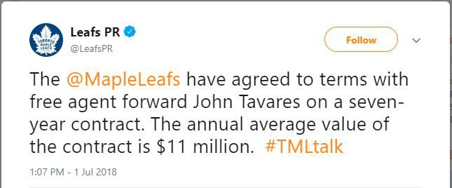 Leafs Tavares