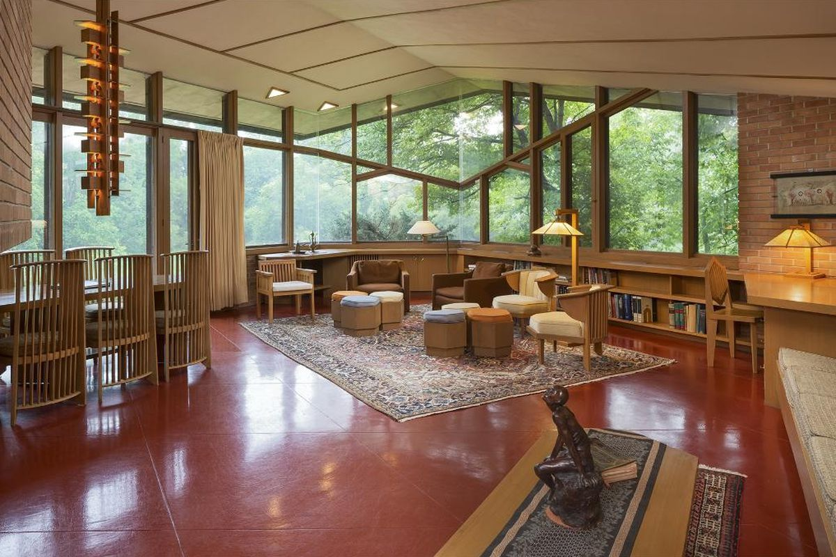 original frank lloyd wright home owners on living with design history curbed. Black Bedroom Furniture Sets. Home Design Ideas