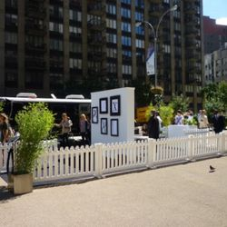 Style.com's pop up shop in Madison Square Park.