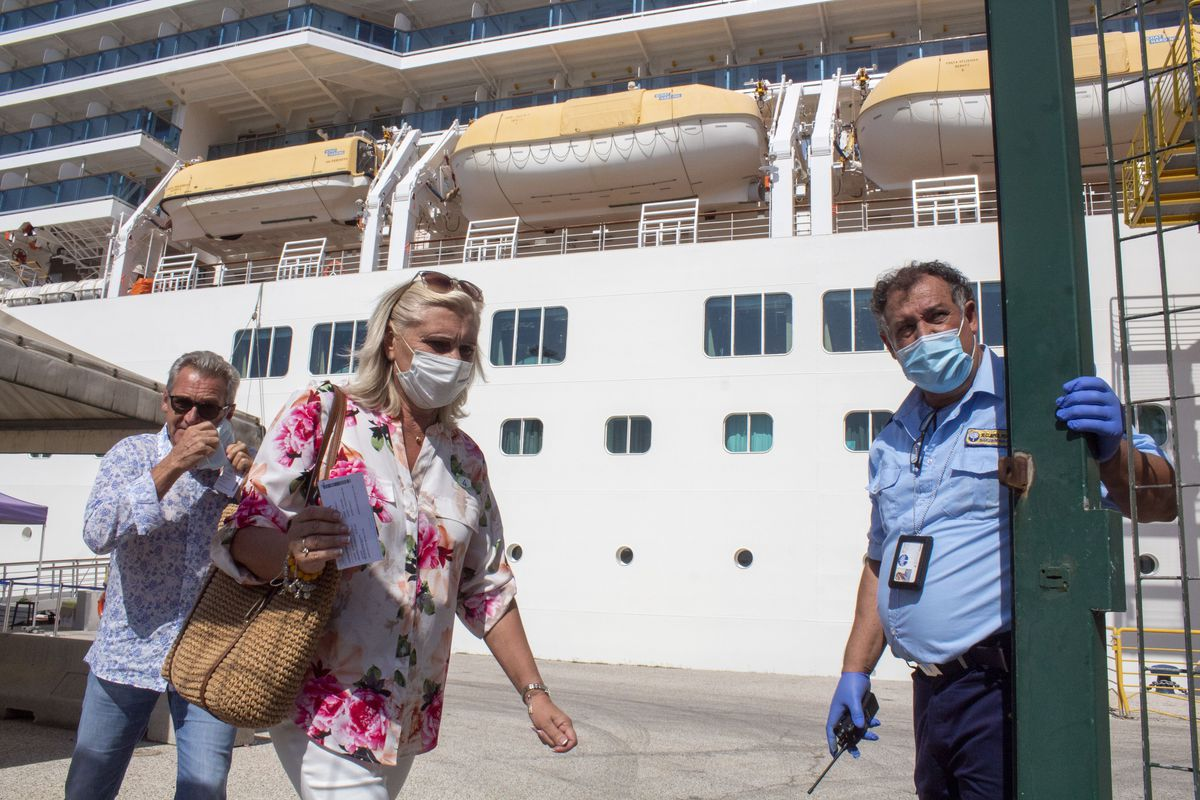 Cruise Ship Sets Sail In Italy After COVID-19 Hiatus