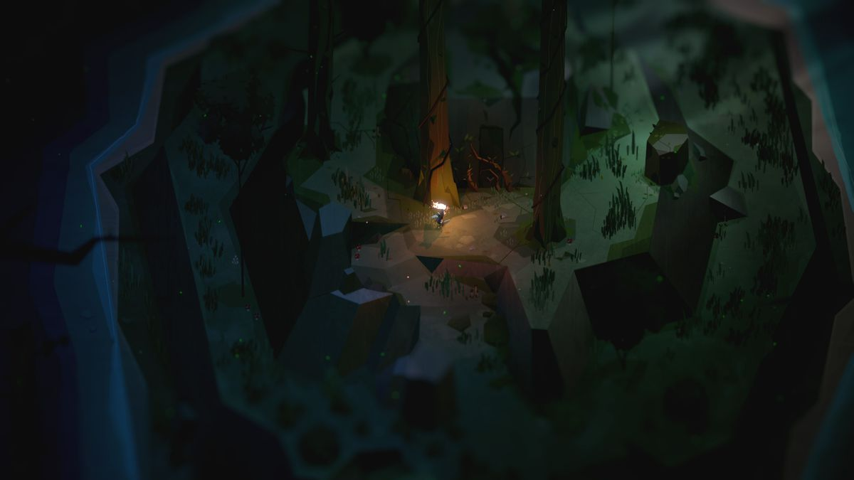 Exploring a forest in Capybara Games' Below