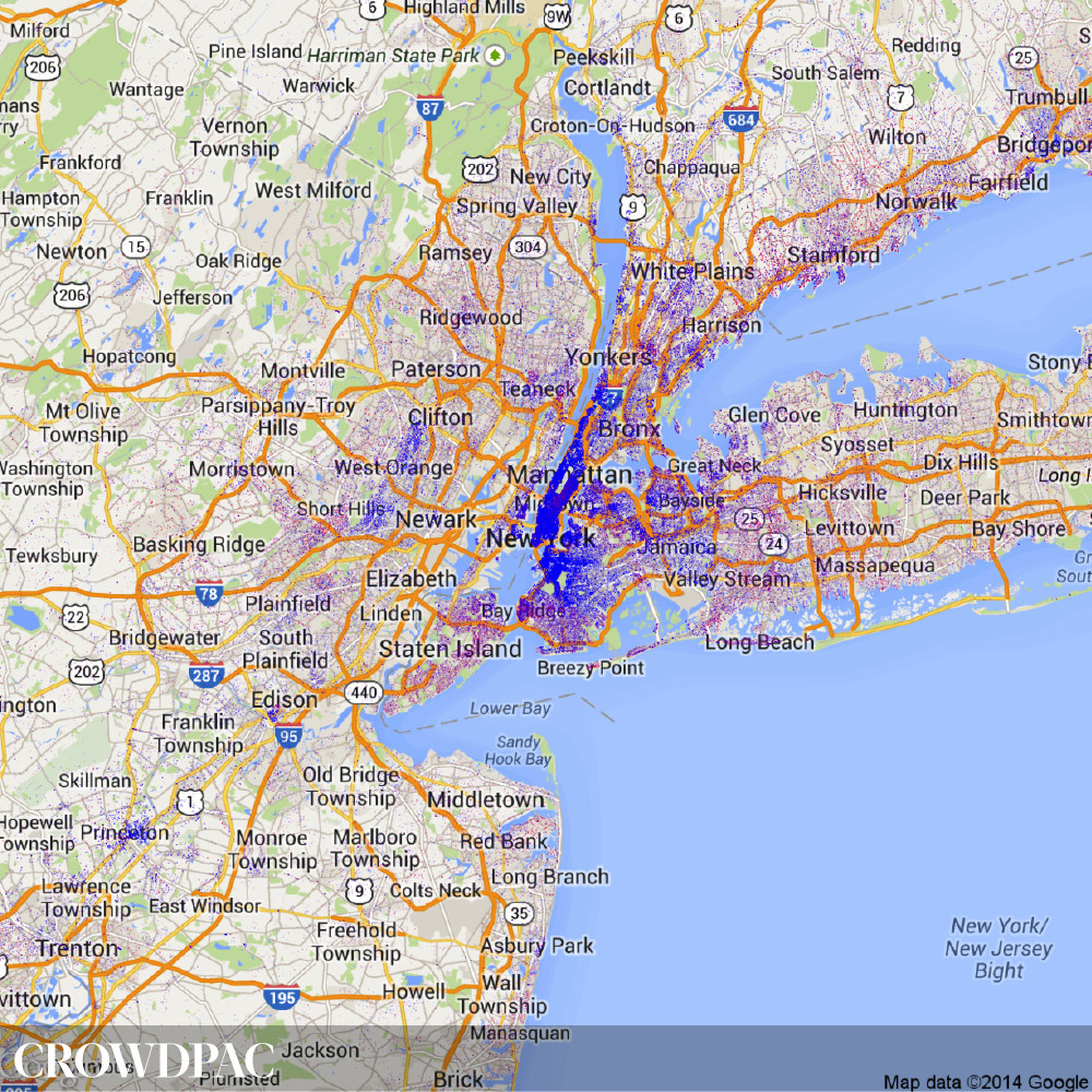 New York CrowdPAC map