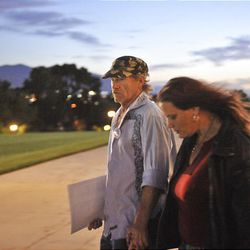 Ronnie Lee Gardner's cousin, Richard Hainsworth, and his wife Norma Jean Hainsworth, attended the Utahns for Alternatives to the Death Penalty rally at the Utah State Capitol in Salt Lake City on Thursday. The execution warrant for Ronnie Lee Gardner was carried out at 12:17 a.m. on Friday.