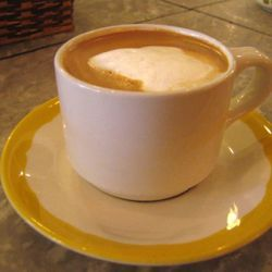 """<b>Cafe Au Lait</b>: Equal parts brewed drip coffee and steamed milk. (<a href=""""http://www.foodgps.com/manhattan-coffeehouse-tour-and-impressions/"""" rel=""""nofollow"""">Photo</a>)"""