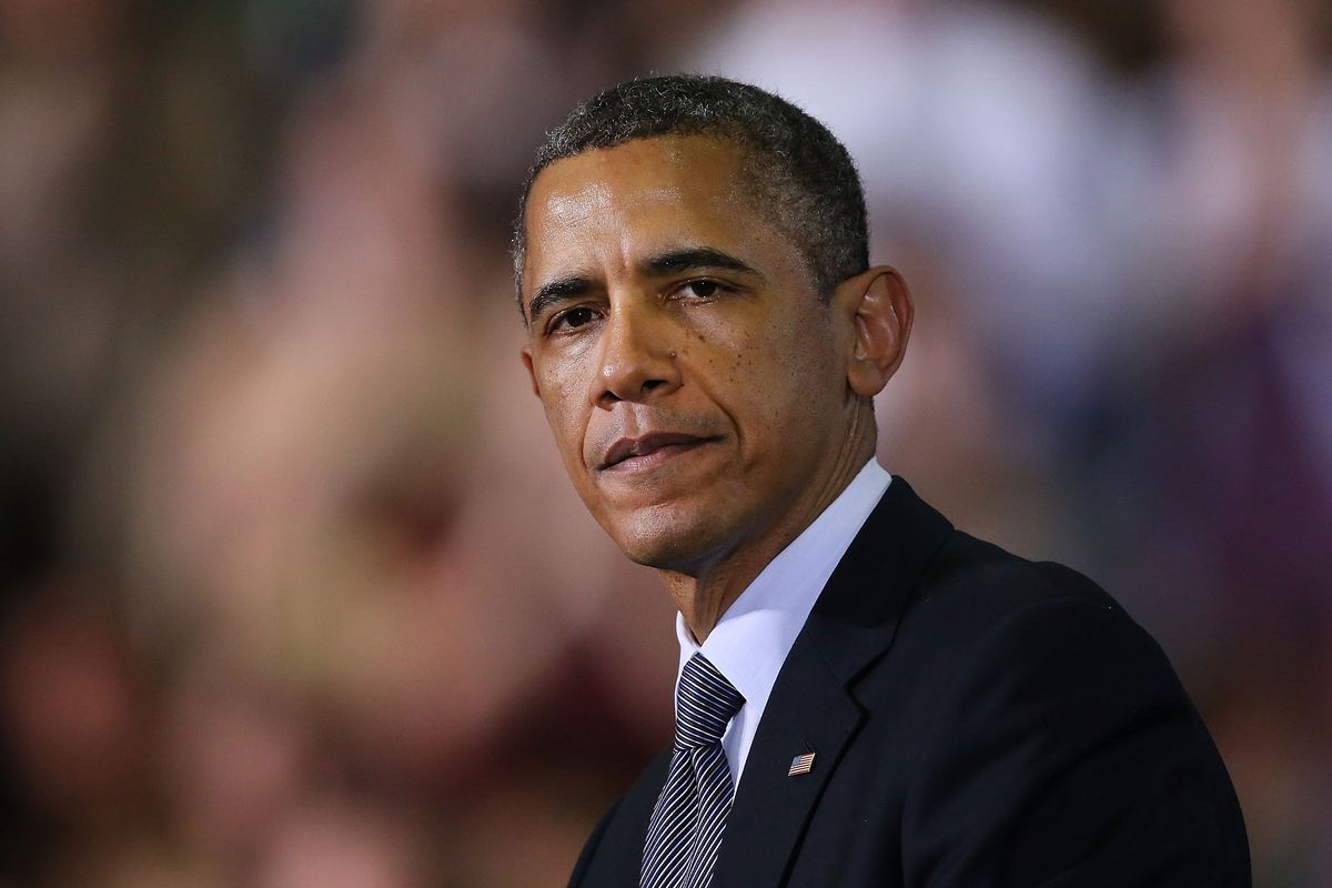 Obama speaks on gun control in Connecticut, a few months after Sandy Hook.