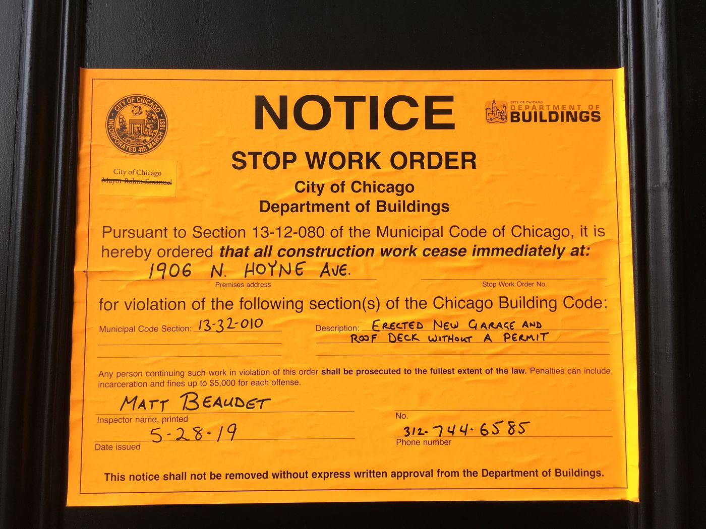 Windy City Rehab' hit with stop-work order - Chicago Sun-Times