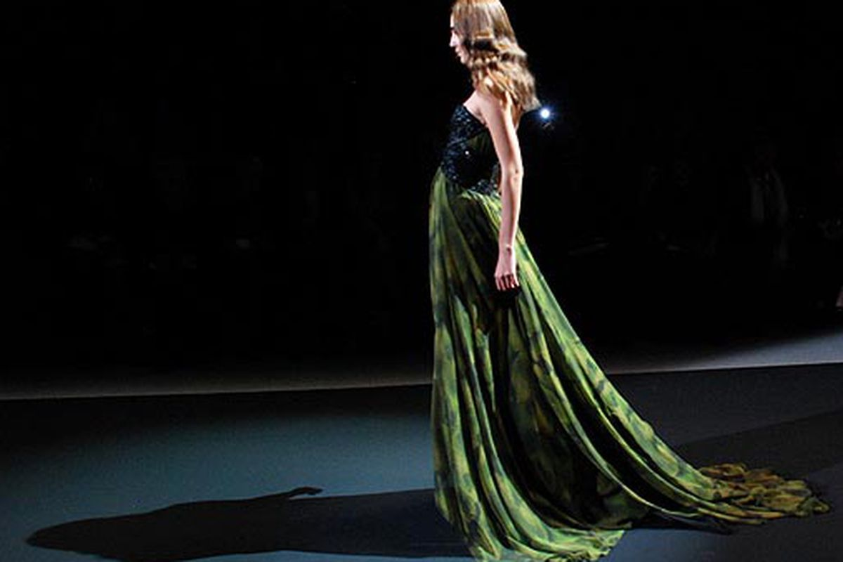 A look from Christian Siriano's show. Photo by Cynthia Drescher.
